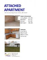 Attached Apartment Details